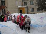 Веселый поезд  для детей команды Снеговиков
