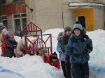 Веселый поезд для детей команды Снежинка