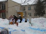 Веселый поезд для родителей команды Снеговиков