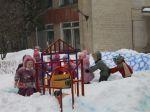 Веселый поезд для родителей команды Снежинка